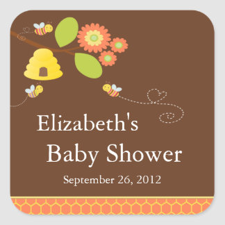 Modern Mom to Bee Baby Shower Sticker