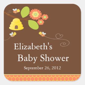 Modern Mom to Bee Baby Shower Sticker
