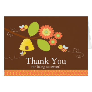 Modern Mom to Bee Baby Shower Thank You Note Card