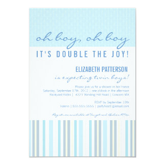 Twin Boy Baby Shower Invitations unitedarmyinfo