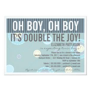 Twin boys baby shower invitations zazzle modern mom twin boy baby shower invitation filmwisefo