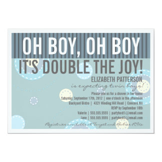 Twin Boys Baby Shower Invitations Announcements Zazzle
