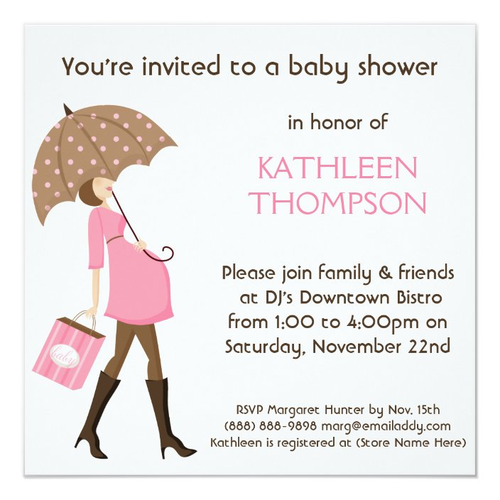 Baby P Shower Party Invitation