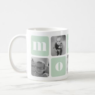 Modern Mommy Photo Collage Coffee Mug