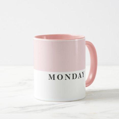 Modern Monday Black Line Funny Quote Mug