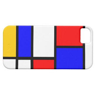 Modern Mondrian design iPhone SE/5/5s Case