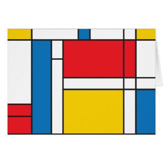 Modern Mondrian Inspired Graphic Pattern Greeting Card