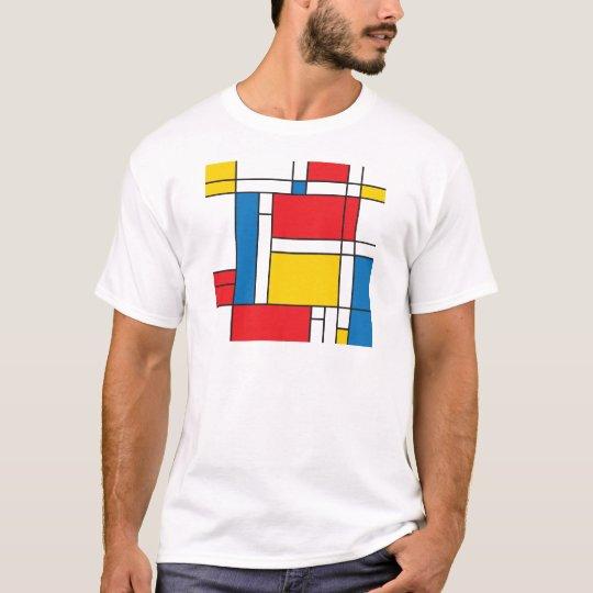 Modern Mondrian Inspired Graphic Pattern T-Shirt