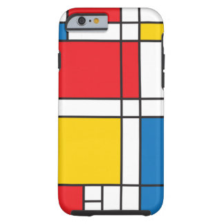 Modern Mondrian Inspired Graphic Pattern Tough iPhone 6 Case