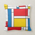 Modern Mondrian Inspired square pillow