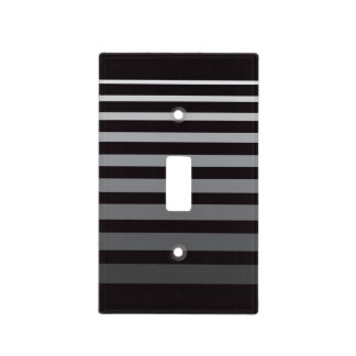 Modern Monochrome Gradient Stripes Switch Plate Cover