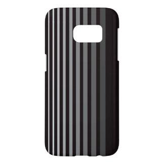 Modern Monochrome Gradient Vertical Stripes Samsung Galaxy S7 Case