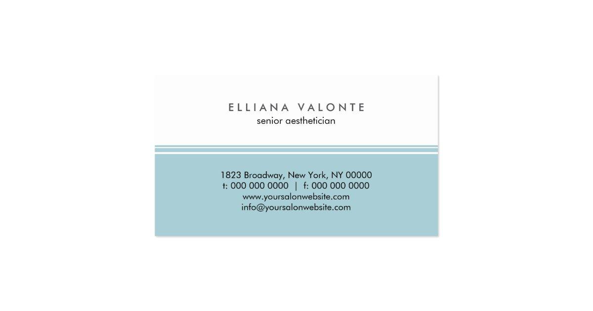 Modern Monogram Aesthetic Business Card Zazzle