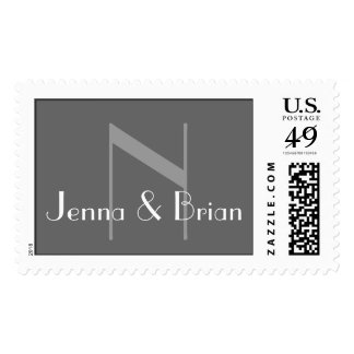 Modern Monogram and First Names Stamp