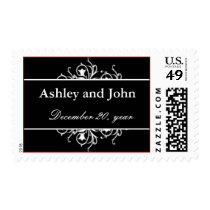 Modern Monogram black  and white Postage