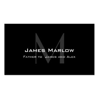 Modern Monogram Black Grey Daddy Calling Card Double-Sided Standard Business Cards (Pack Of 100)