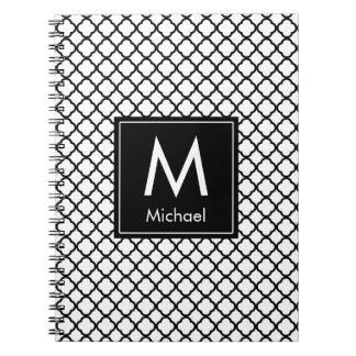 Modern Monogram (Black) Notebooks