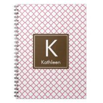 Modern Monogram (Brown/Pink) Notebook