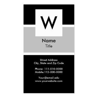 Modern Monogram Business Card
