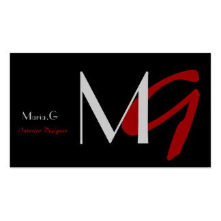 Modern Monogram businesscards Double-Sided Standard Business Cards (Pack Of 100)