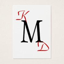 Modern Monogram businesscards Business Card