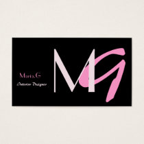 Modern Monogram businesscards Business Card