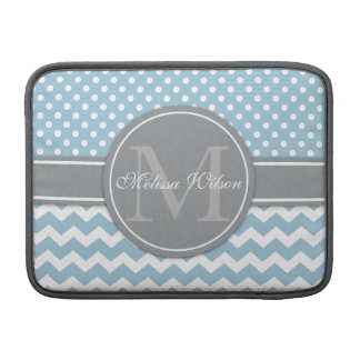 Modern Monogram Chevron Zigzag Stripes MacBook Air Sleeve