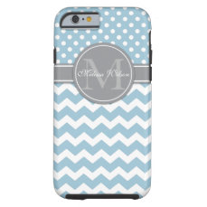 Modern Monogram Chevron Zigzag Stripes Tough iPhone 6 Case