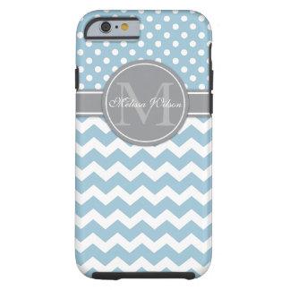 Modern Monogram Chevron Zigzag Stripes Tough iPhone 6 Case