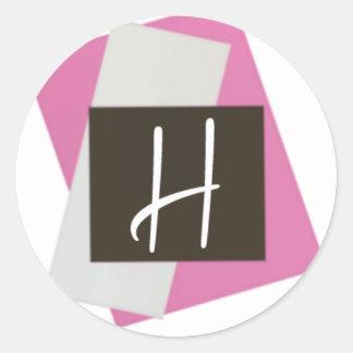Modern Monogram Classic Round Sticker