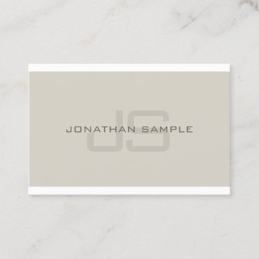 Modern Monogram Clean Professional Plain Luxury Business Card