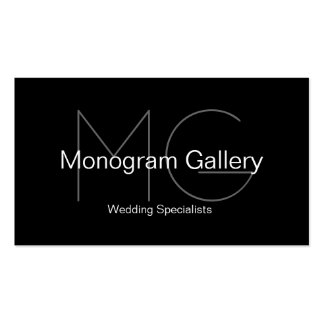Modern Monogram Customizable Business Card
