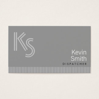 Modern Monogram Dispatcher Business Card