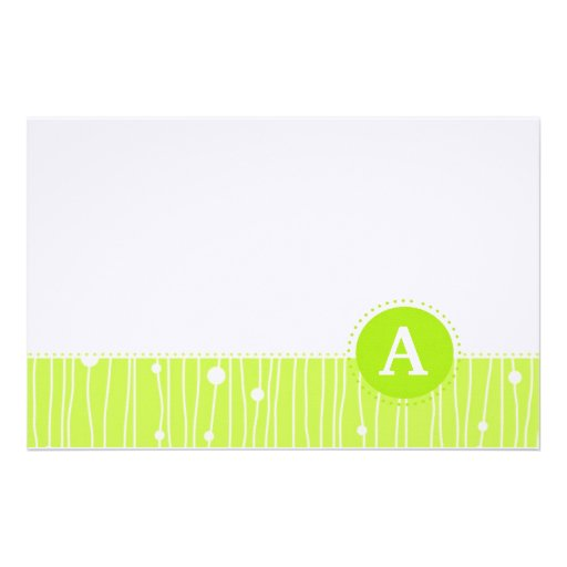 Modern Monogram (Emmy's Collection) Personalized Stationery