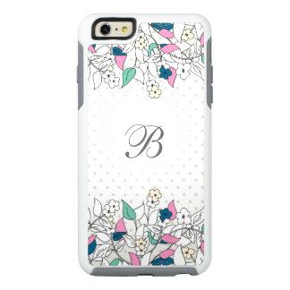 Modern Monogram Floral OtterBox iPhone 6 Plus Case