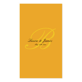 MODERN MONOGRAM INITIAL WEDDING ANNOUNCEMENT GELB Double-Sided STANDARD BUSINESS CARDS (Pack OF 100)