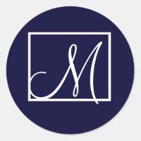 Modern Monogram M Stickers