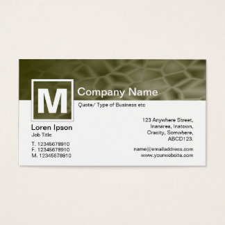 Modern Monogram - Manna Business Card