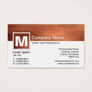 Modern Monogram - Martian Dust Storm Business Card