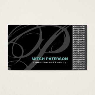 Modern Monogram Photographer Business Cards
