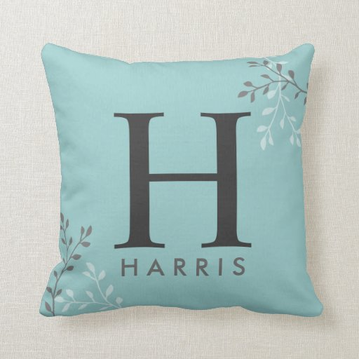 Modern Initial Pillow : Modern Monogram Pillow Zazzle