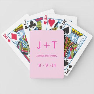 Modern Monogram - Pink Bicycle Playing Cards