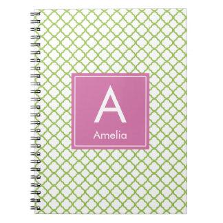 Modern Monogram (Pink/Green) Note Books