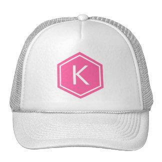 Modern Monogram Pink Trucker Hat