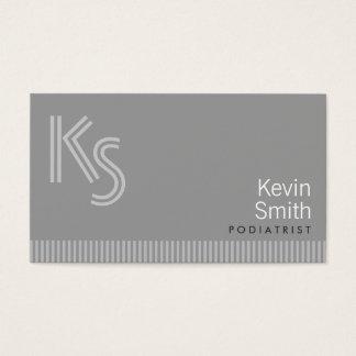Modern Monogram Podiatrist Business Card