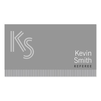 Modern Monogram Referee Business Card