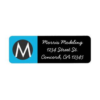 Modern Monogram Return Address Labels