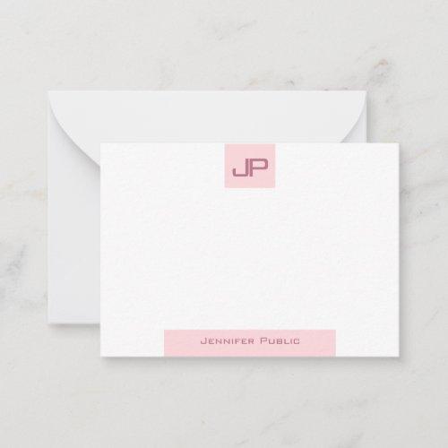 Modern Monogram Simple Template Elegant Blush Pink