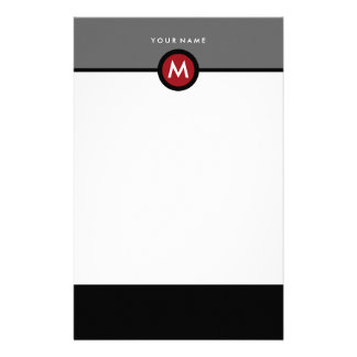 Modern Monogram Stationery - Business or Personal