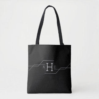 Modern Monogram Tote Bag
